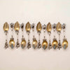 George Sharp 'Morning Glory' Antique Sterling Dessert Spoons, Philadelphia, PA, c. 1860s - set of 12