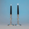 Warner, Andrew Ellicott Pair of Antique American Silver Candlesticks, Baltimore, MD, c. 1840