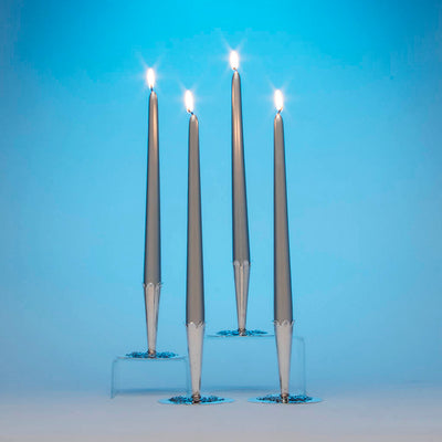 Stavre Gregor Panis Set of Four Sterling Silver Nautical Candlesticks, c. 1930's