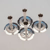 Grouping of Stavre Gregor Panis Set of Four Sterling Silver Nautical Candlesticks, c. 1930's