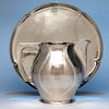 The Kalo Shop Hand Wrought Sterling Silver Arts & Crafts Pitcher with Original Tray, Chicago, Illinois - 1920