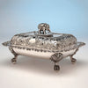 Single Bailey & Co Antique Coin Silver Covered Entree Serving Dishes exhibited at the New York Crystal Palace Exhibition, Philadelphia, 185