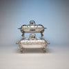 Sides of Bailey & Co Antique Coin Silver Covered Entree Serving Dishes exhibited at the New York Crystal Palace Exhibition, Philadelphia, 1853