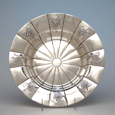 Erik Magnussen Rare Designed for Gorham Art Deco Sterling Silver Centerpiece Bowl, Providence, 1926