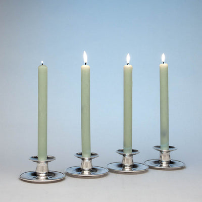 Lined The Kalo Shop Hand Wrought Sterling Silver Arts & Crafts Candle Holders, Chicago, Illinois, c. 1920's - set of 4