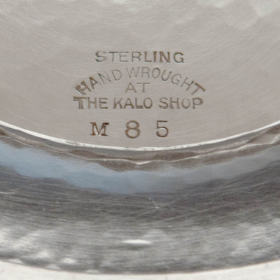 Marks on The Kalo Shop Arts & Crafts Sterling Silver Centerpiece Bowl, Chicago, IL, c. 1920's