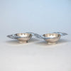 Stavre Gregor Panis Pair of Sterling Silver Salt Dishes, Falmouth, Massachusetts, c. 1930's