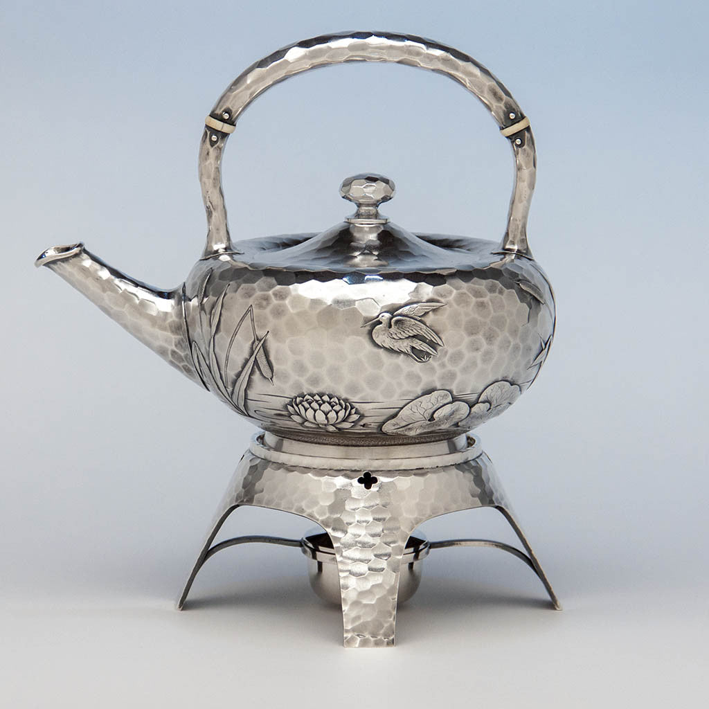 Dominick & Haff Antique Sterling Silver Aesthetic Movement Kettle on ...
