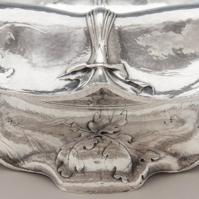 Detail of Gorham Martelé .9584 Silver Antique Centerpiece Bowl signed by William C. Codman, Providence, RI, 1913