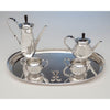 Top of Leslie Durbin English Mid-Century Modern Sterling Silver Coffee Service with Tray, London, 1967/68