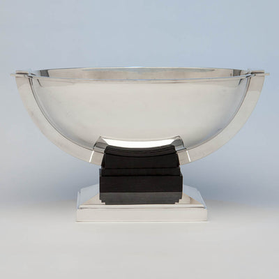 Tétard Frères French .950 Silver and Ebony Art Deco Centerpiece, Paris, France, c. 1930