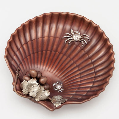 Gorham Copper & Other Metals Shell Grape Dish, Providence, RI, c. 1882