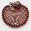 Top view of Gorham Copper & Other Metals Shell Grape Dish, Providence, RI, c. 1882