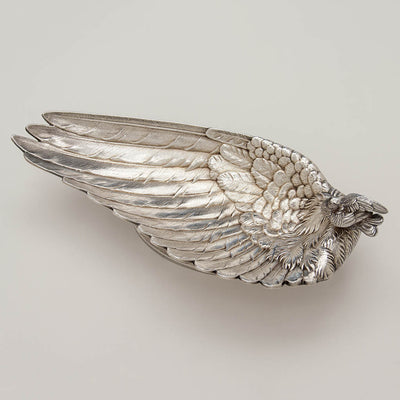 Whiting Antique Sterling Silver Figural Bird Dish, New York City, c. 1870's