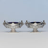 Albert Coles Pair of Coin Silver Master Salts, New York City, c. 1860