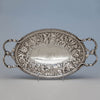 S. Kirk & Son 11oz Silver Antique Bread or Fruit Tray, Baltimore, MD, 1880-90