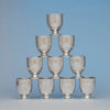 Hall Hewson and Co Antique Coin Silver Beakers - 10, Albany, NY, c. 1847