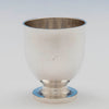 Initial on Hall Hewson and Co Antique Coin Silver Beakers - 10, Albany, NY, c. 1847