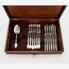 Bottom interior of Gorham/ Wendt 'Medallion Pattern Antique Sterling Flatware Service, Providence, NYC, mid 1860's