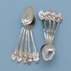 Tea spoons to Gorham/ Wendt 'Medallion Pattern Antique Sterling Flatware Service, Providence, NYC, mid 1860's