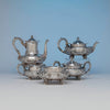 Dominick & Haff 5-piece Antique Sterling Silver Coffee Service, NYC, 1892