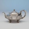 Tea pot to Dominick & Haff 5-piece Antique Sterling Silver Coffee Service, NYC, 1892