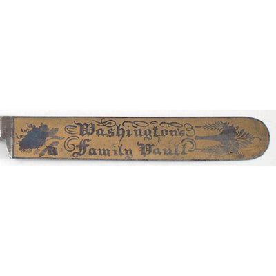 Washington's family vault blade