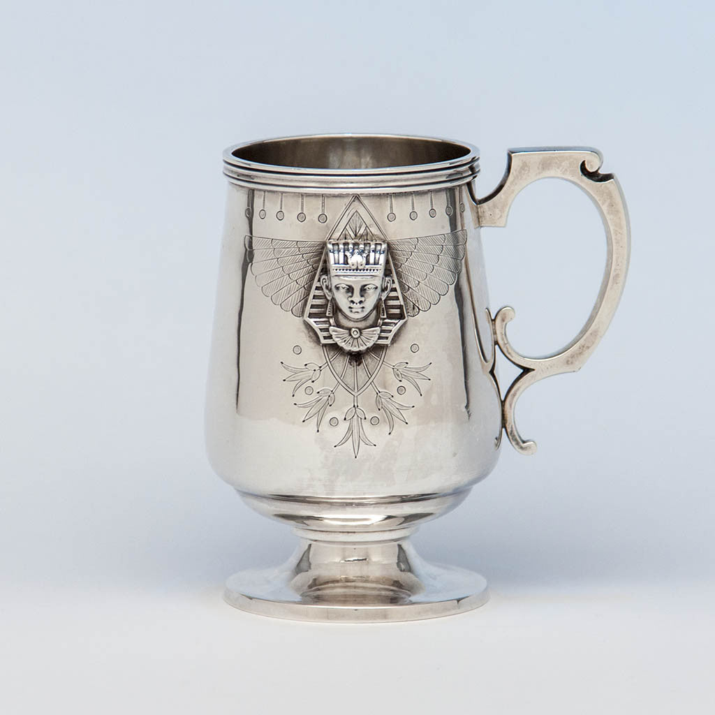 American Antique Sterling Egyptian Revival Child's Cup, c. 1870's