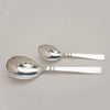 Serving spoons to Cohr 'Olympia' Pattern Mid-Century Modern Sterling Silver Serving Pieces, Copenhagen, Denmark, c. 1950's