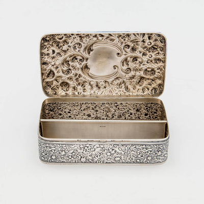 Gorham Antique Sterling Silver Jewelry Box, Providence, RI, 1895