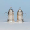 English Pair of Sterling Silver Shakers, London, 1959/60