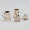 Parts of English Pair of Sterling Silver Shakers, London, 1959/60