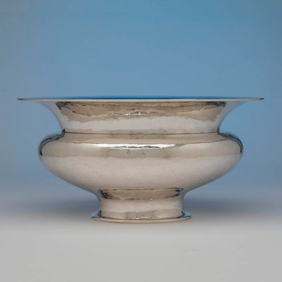 Side view of Marie Zimmermann Massive Arts & Crafts Centerpiece Bowl, New York City, 1921