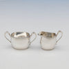 Hammered interior of McAuliffe & Hadley Sterling Silver Arts & Crafts Coffee Set, Boston, Ma, first half 20th century
