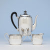 McAuliffe & Hadley Sterling Silver Arts & Crafts Coffee Set, Boston, Ma, first half 20th century