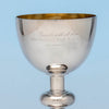 Inscription on George Sharp for Bailey & Co.,  Large Antique Sterling Silver Chalice, Philadelphia, c. 1867