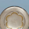 Inscription on R. & W. Wilson Antique Coin Silver Paten, Philadelphia, c. 1860