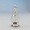 Spount side Ballou MFG Co Sterling Silver Ecclesiastical Cruet, Attleboro, MA, c. 1900