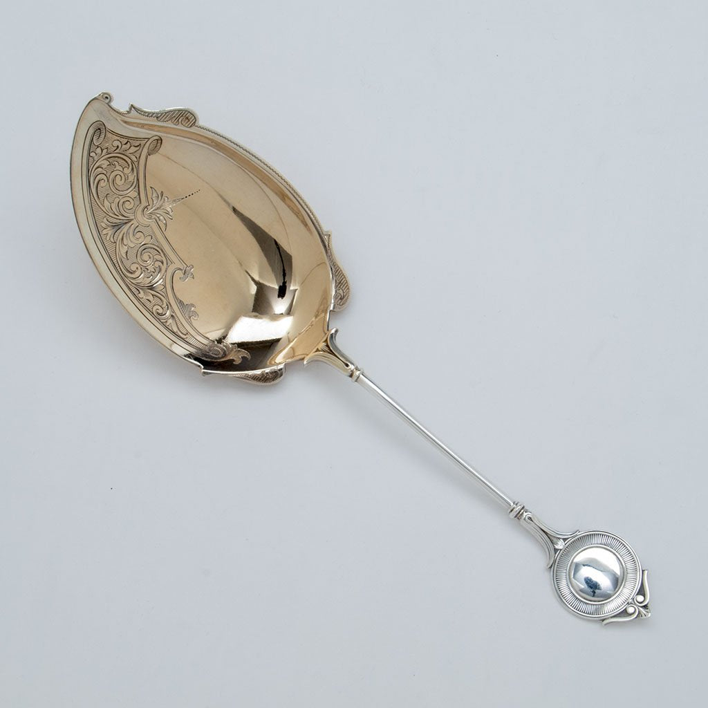 John Wendt Antique Sterling Silver Ice Cream Server, NYC, NY, c. 1870's