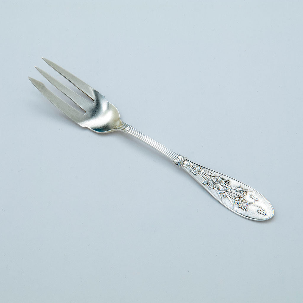 Whiting 'Sterling 'Honeysuckle' Pattern Pickle Fork, NYC, c. 1870's