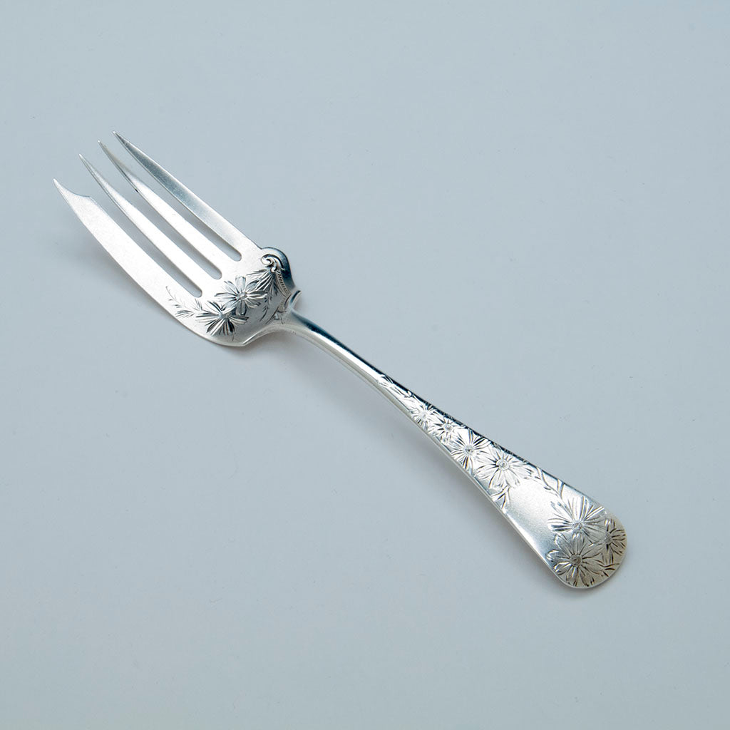 Gorham Sterling 'Chrysanthemum' Pattern Serving Fork, Providence, RI, 1890
