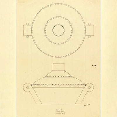 Origial Puiforcat Drawing for Covered Tureen, courtesy Cooper-Hewitt Design Library, Smithsonian Institution