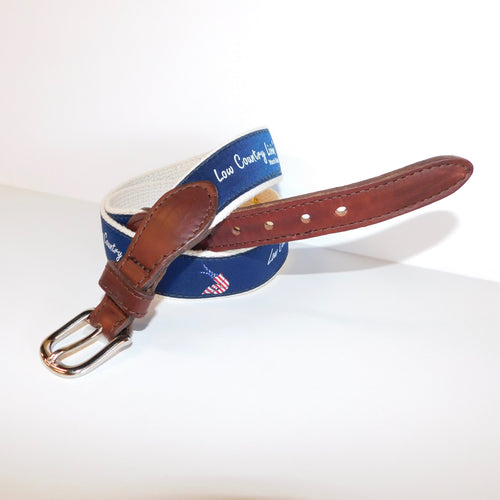 Kid's Canvas Belt Old Glory Shrimp