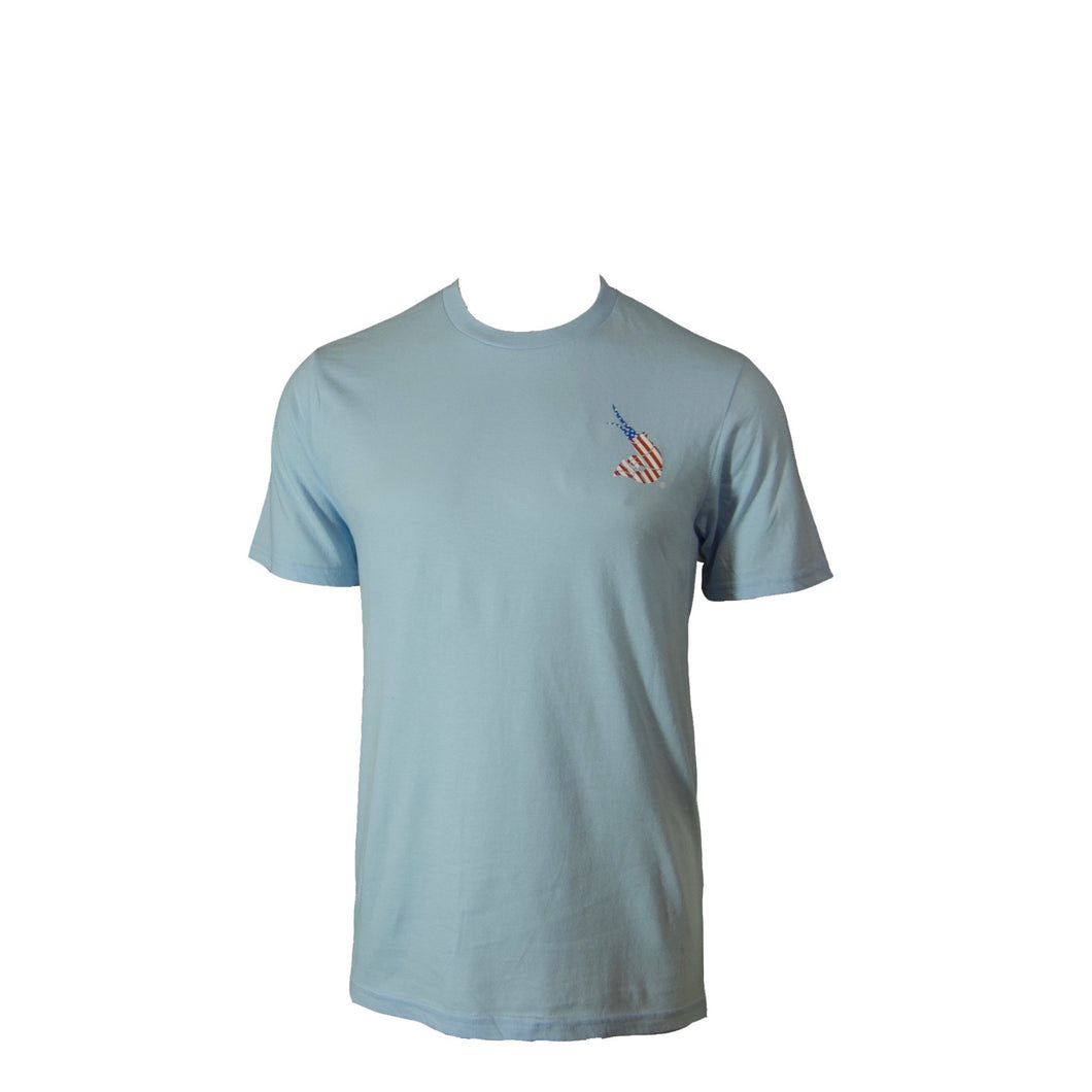USA Old Glory Ice Blue Tee
