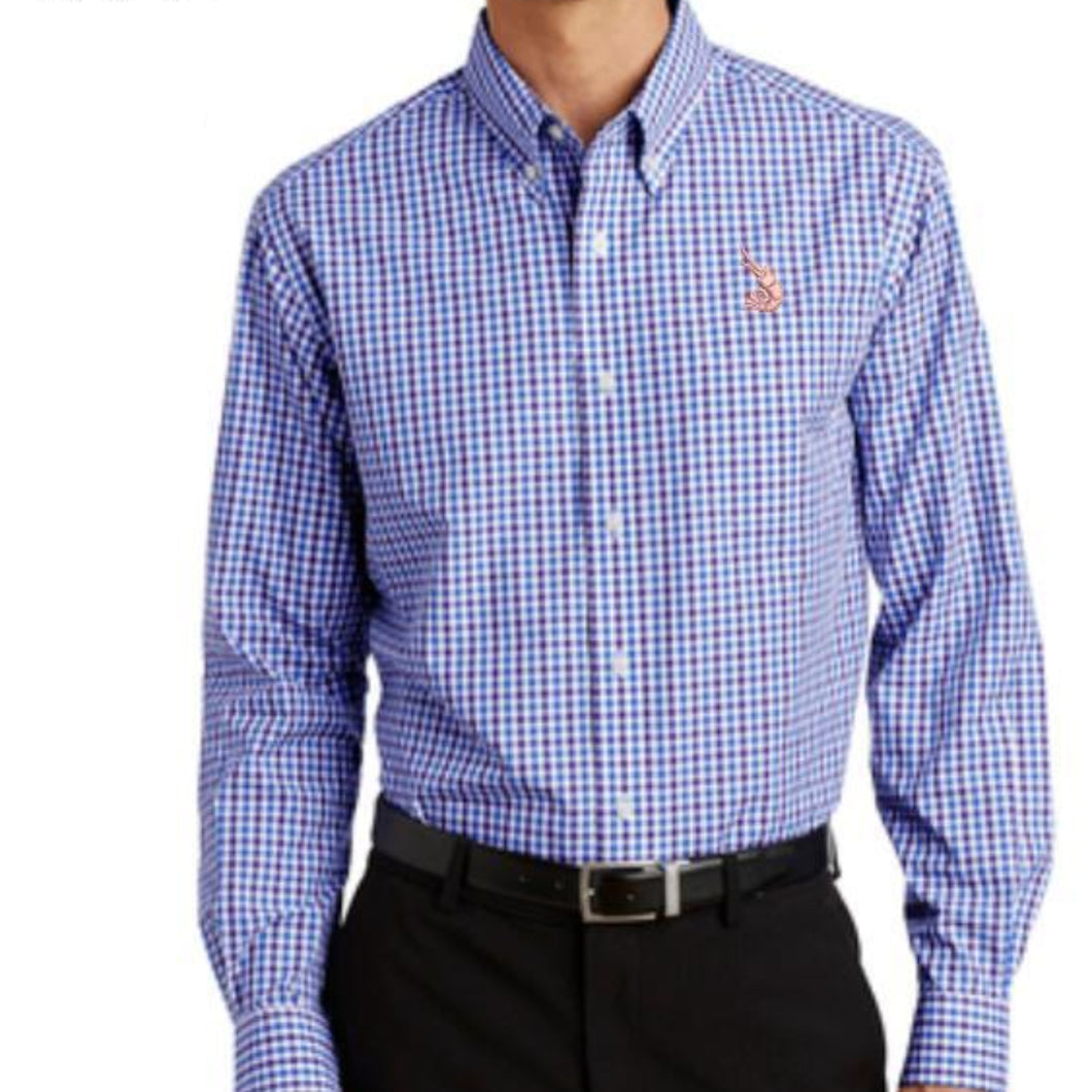 Woven L/S Shirt - Blue/Purple Gingham