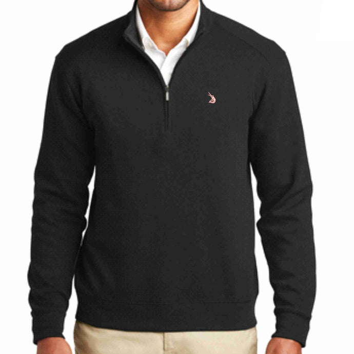 Men's Quarter Zip Blended Pull Over