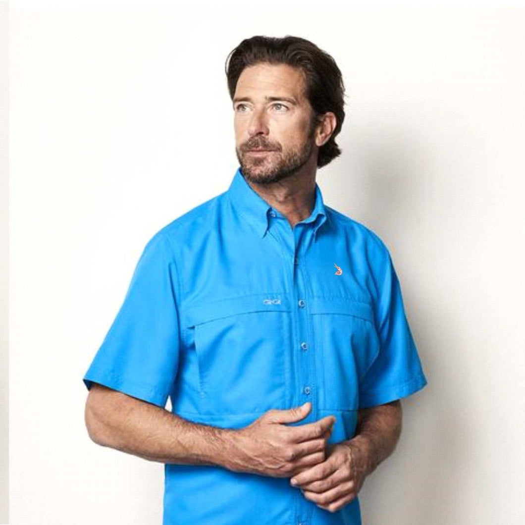 Reel Angler Fishing Shirts Ice Blue