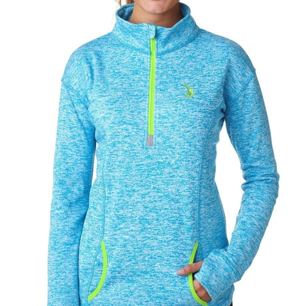 Ladies' Quarter Zip Cosmic Blue