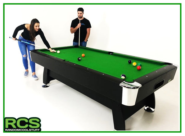 7 Foot Pool Table - DELUXE PACKAGE 70% Wool Felt