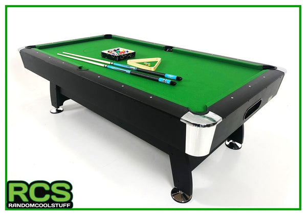 8 Foot Pool Table Deluxe Package - 70% Wool